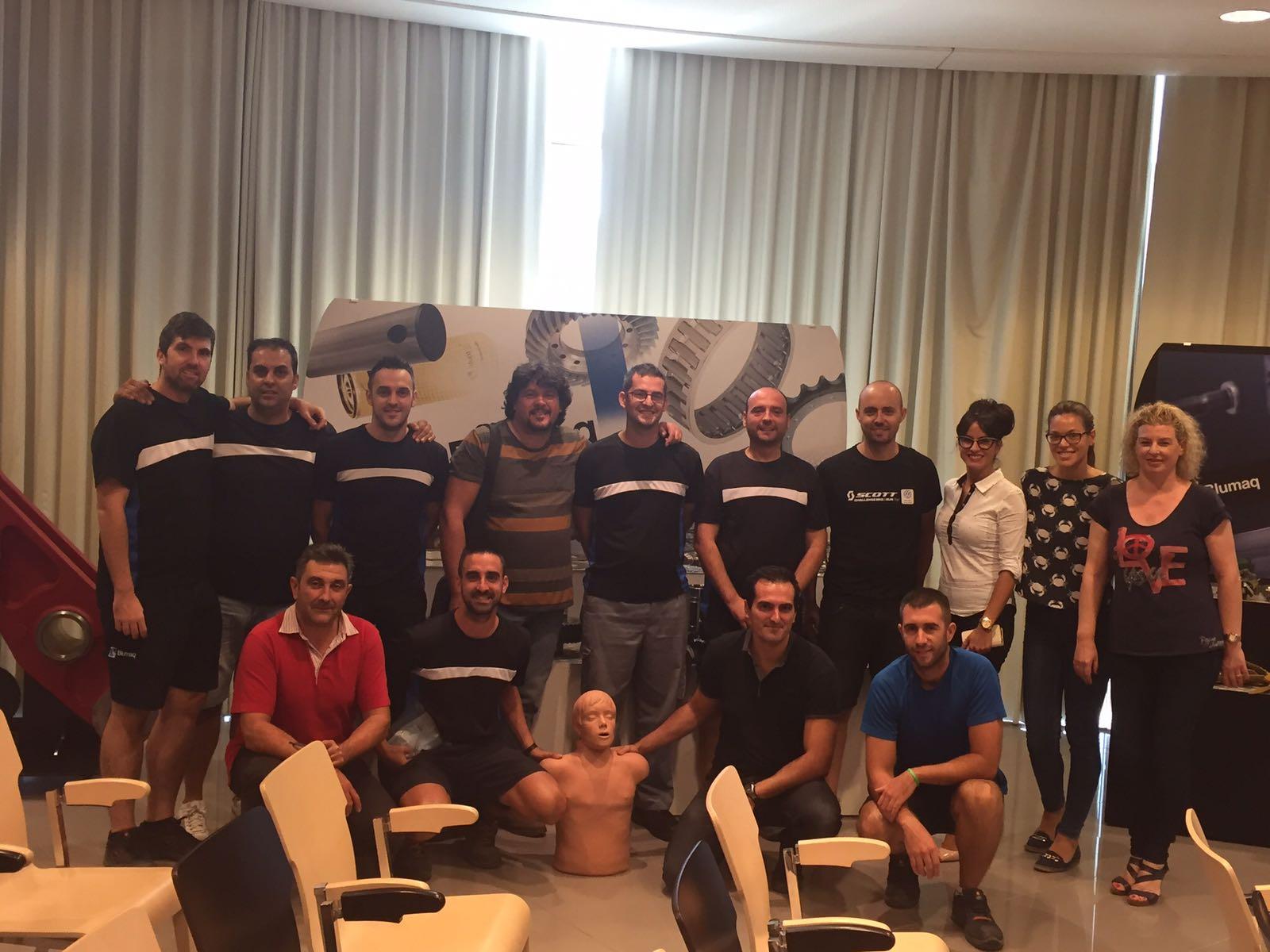 Curso RCP y DESA para empresa Blumaq de Castellón