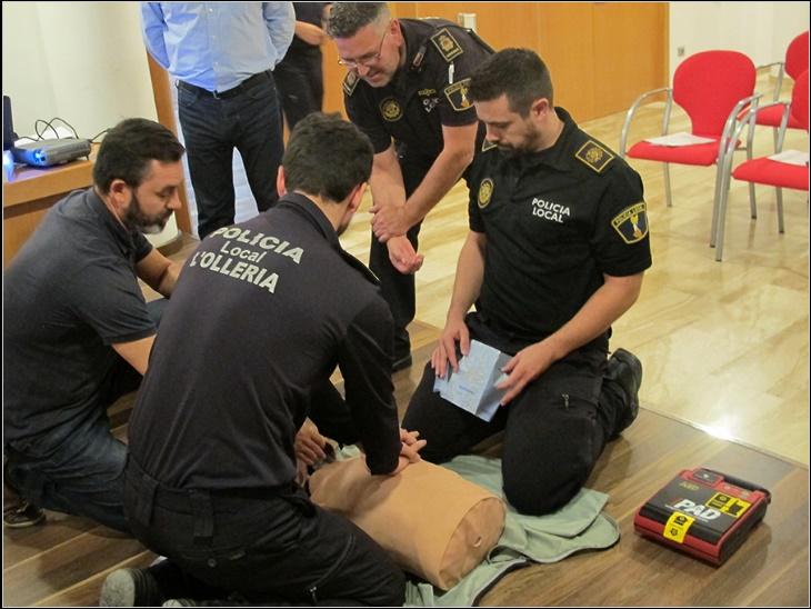 Curso RCP y DESA para Policía Local del Ayuntamiento de L´Ollería
